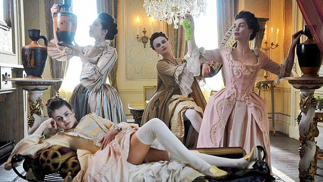 A high-class brothel of 18th Century London, as depicted in Harlots, which airs on BBC2 starting next week
