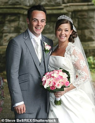 Ant and Lisa on their wedding day in Buckinghamshire on July 22, 2016
