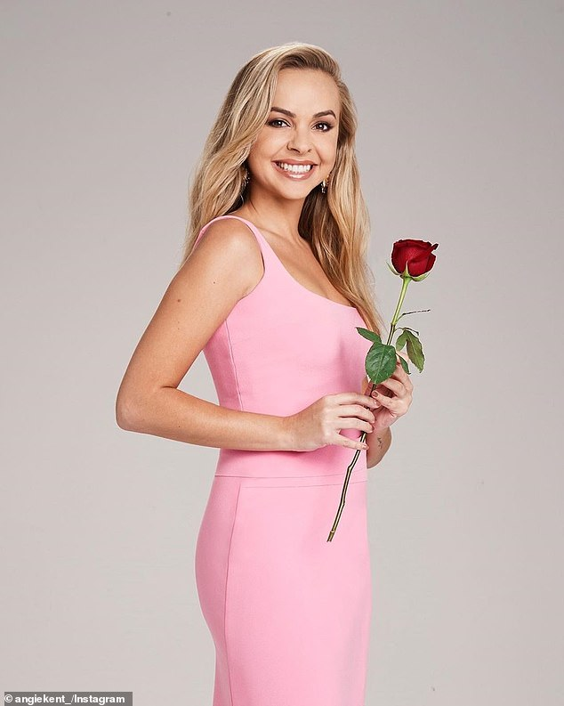 Over: Angie revealed at the start of this month that she and Carlin, who met on last year's season on The Bachelorette, called it quits because their 'values didn't align'