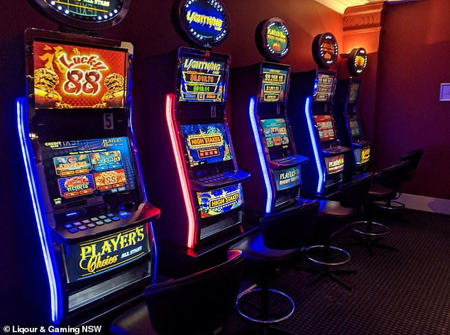 All gaming machines were operational (pictured), which goes against the venue's Safety Plan where every second machine should be switched off.