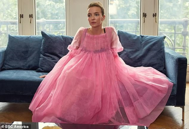 Killer Look: The dress may look familiar, as it strikingly resembles a now iconic look (also from Goddard) sported by Jodie Comer in the first season of Killing Eve