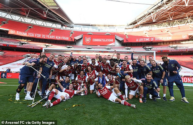 It's the 14th team the Gunners have lifted in the FA Cup, it's also their fourth in seven years