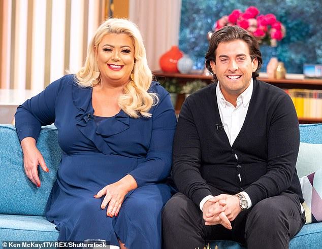 Moving on:  James Argent and Gemma ended their relationship in July after she revealed a string of abusive messages, purportedly sent to her by the TV personality prior to their split