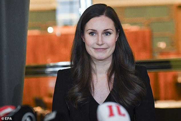 Finland's centre-left government, led by 34-year-old prime minister Sanna Marin (pictured), has unveiled plans to give fathers the same amount of parental leave as mothers