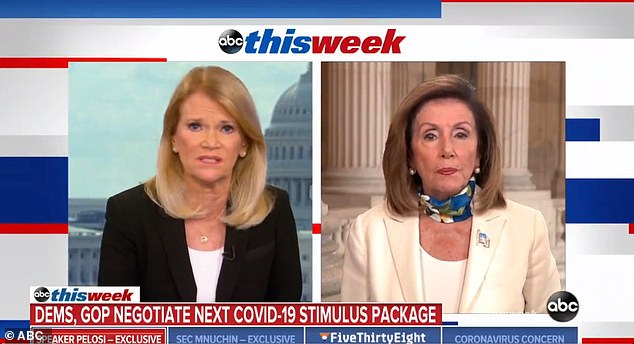 House Speaker Nancy Pelosi signaled a stalemate in negotiations as she could not give a timeline on when an agreement on next package would be reached as enhanced unemployment benefits expired on Friday