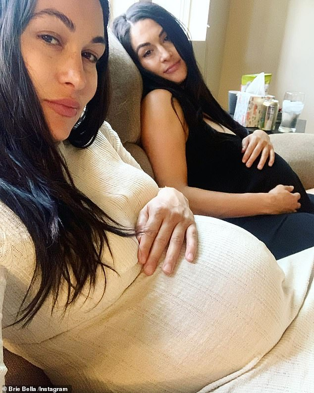 Going through it together: Brie's sister Nikki was due two weeks after her
