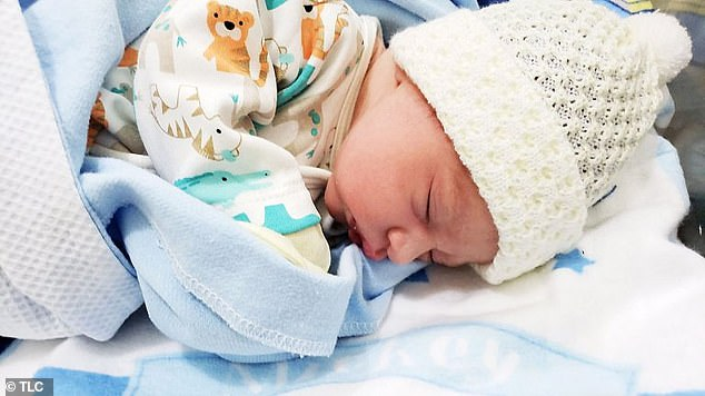 Bundle of joy: The couple welcomed son named Pierre Martins Staehle last year