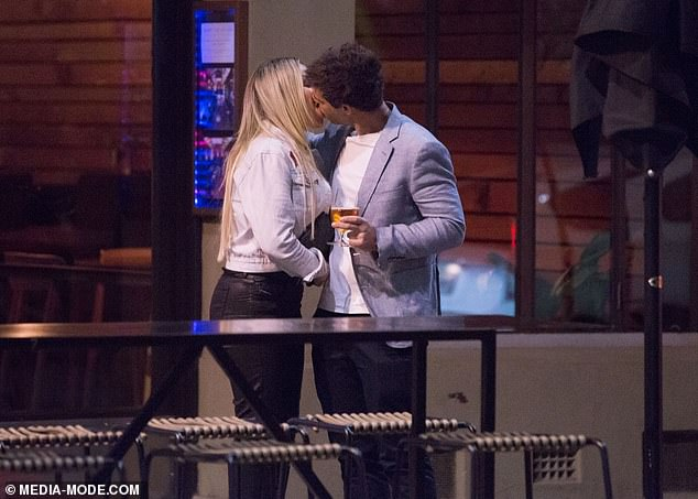Busy boy! Michael's outing comes just four days after he was spotted passionately kissed a mystery blonde woman at Press* Food and Wine in Adelaide (pictured)