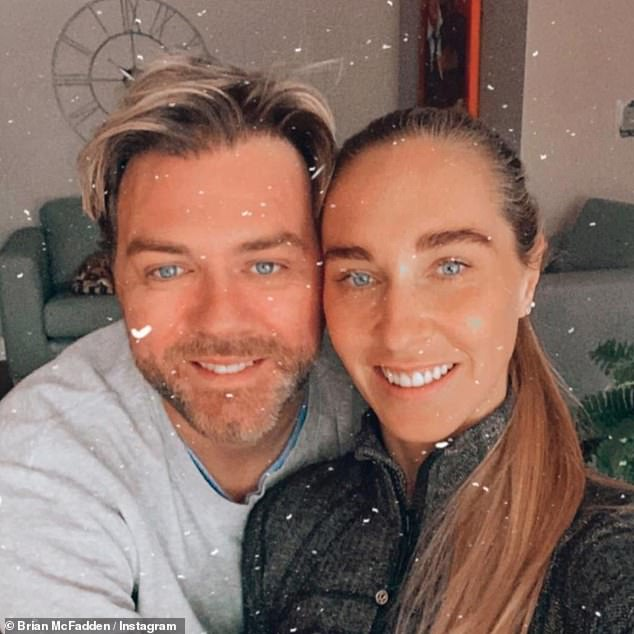 Seek help: The former Westlife singer, 40, and PE teacher, 39, revealed their bundle of joy is expected to arrive in May, after nearly two years of IVF treatments.