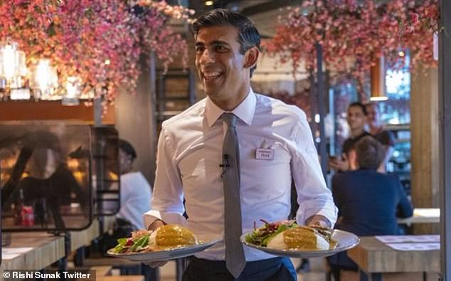 Chancellor Rishi Sunak, pictured at a Wagamama branch on July 8, after launching the new scheme