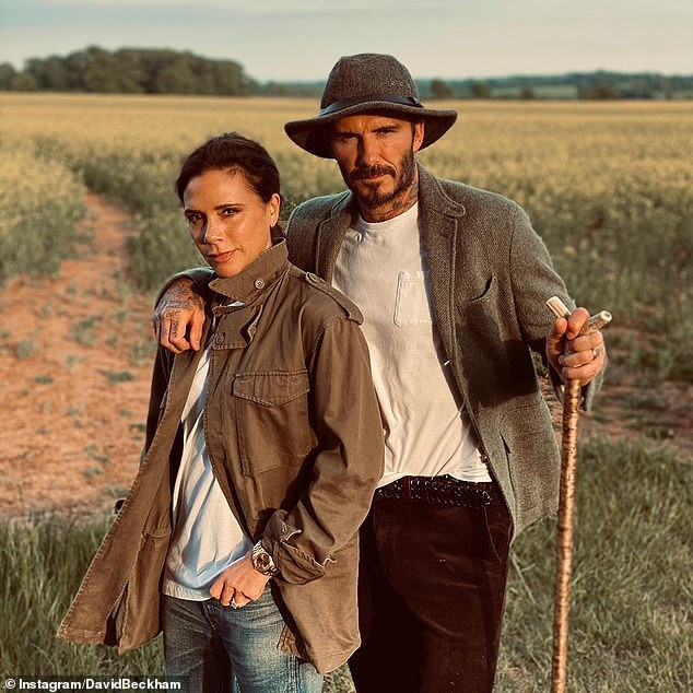 New construction: The Beckham family have planned to make several changes to their estate in recent months, including the hope of a lake