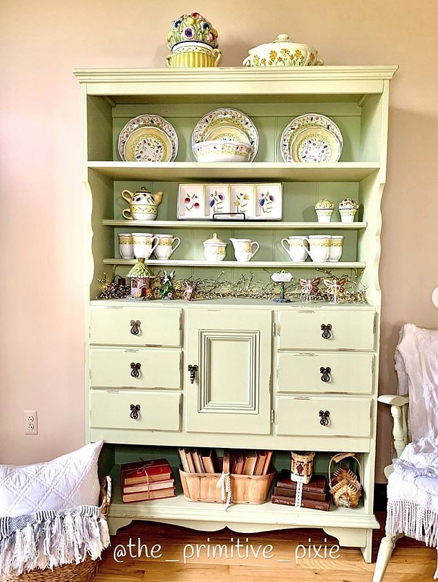 5. FARMHOUSE FURNITURE: Suzanne, from Michigan, shared one of her favourite farmhouse pieces which was chosen over a traditional formal china cabinet