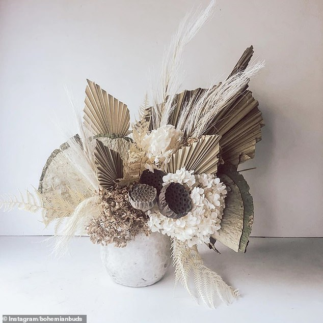 8. DRIED FLOWER BOUQUET: Jess, from Australia, shared her locally sourced dried bunch of flowers which have been recycled and pressed