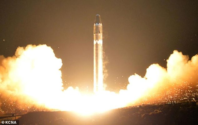 The United States is also concerned that Kim Jong Un's regime may have militarized anthrax or smallpox, noting that if affixed to a missile and launched into Seoul, a single kilogram (2.2 lb ) anthrax could kill 50,000 people.  (File photo of a North Korean missile launch)