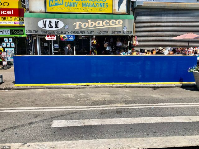 Temporary sidewalk vent covers have been put in place in preparation of Hurricane Isaias in Manhattan