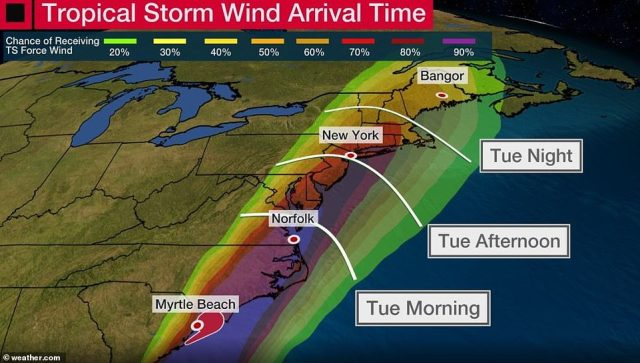 Hurricane Isaias hit the Virginia area early on Tuesday before making its way toward the New York metropolitan area on Tuesday evening