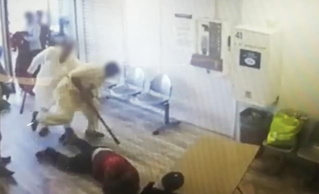 After leaving the laundromat, one of the men returns to deliver a final blow to the victim