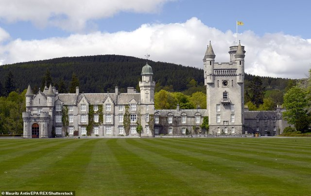 A group of aides have already travelled up to the Scottish home of the Royal Family to prepare the castle for the couple's arrival. The Queen and Philip will stay in the main castle, pictured