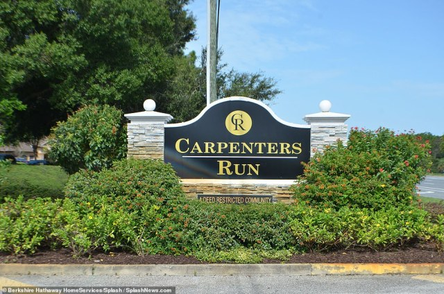 Home sweet home:The home is located in a subdivision called Carpenters Run in the town of Lutz in the Tampa Bay area, listed by Stacie Savoy of Berkshire Hathaway Florida Properties Group