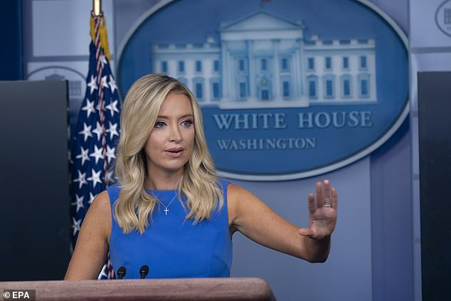 White House Press Secretary Kayleigh McEnany, who like Trump votes by mail absentee in Florida, denied the president was making a U-turn