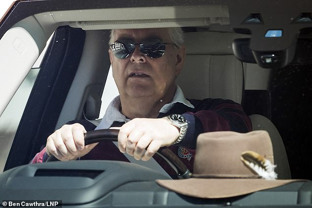 Prince Andrew Dons Sunglasses As He Emerges From Windsor After