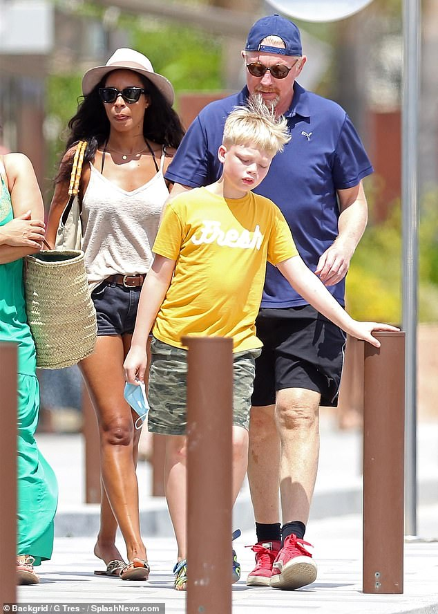 Boris Becker heads out for lunch with girlfriend Lillian De Carvalho and his son amid ex Lilly row