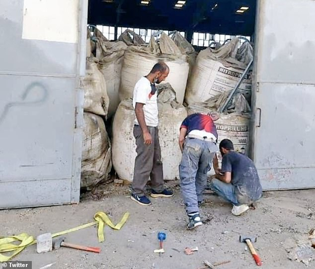 Lebanon has placed all officials responsible for Beirut's port security for the last six years under house arrest, after a warehouse packed with ammonium nitrate (believed to be pictured here) exploded with the force of a small nuke