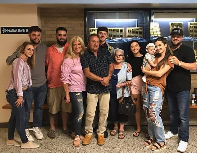 The entire Barbuto family are pictured together earlier in 2020