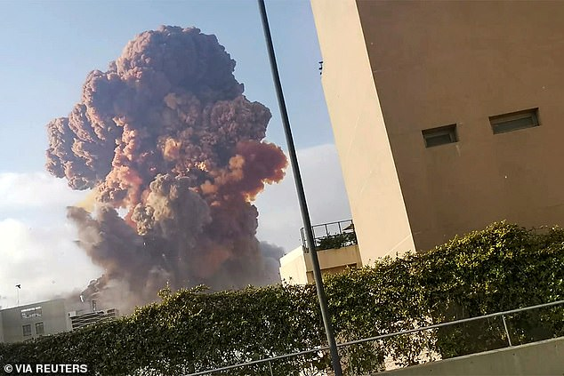 Explosion: At least 135 people have now been confirmed to have died in the blast, with more than 5,000 others injured. The explosion was triggered when a warehouse filled with dangerous chemicals caught fire in the city's port area and erupted with the force of a small nuclear bomb