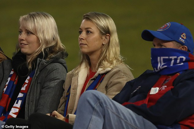 Soccer fans who were at McDonald's Jones Stadium in Broadmeadow on Sunday from 7.30pm are advised to keep an eye out for COVID-19 symptoms. Pictured: Newcastle Jets fans sit in the crowd during Sunday evening's match