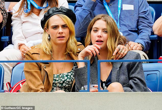 Moved on! Benson and Cara Delevingne broke up in early May after about two-years together