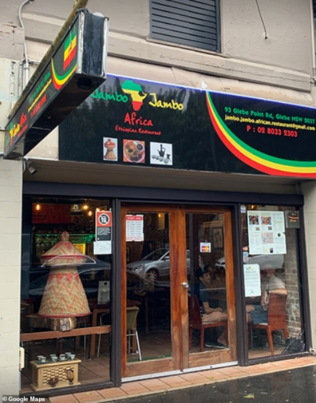 Gladys Berejiklian urged anyone who visited the Jambo Jambo restaurant in Glebe (pictured) last Friday between 7pm to 8.30pm to immediately self-isolate for 14 days and get tested