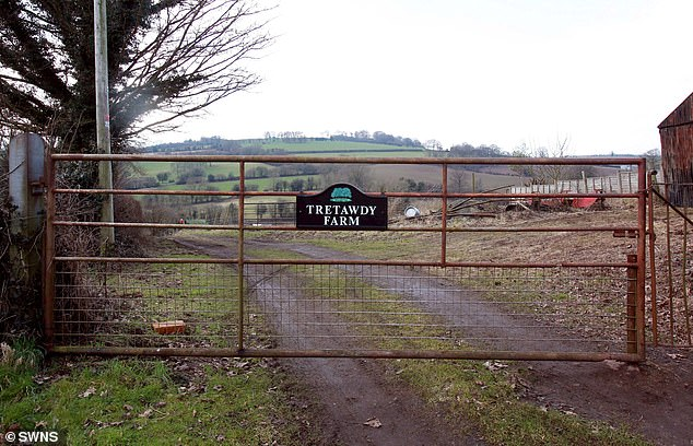 The farm was at the centre of a family row in 2010 when Mrs Cook granted legal permission to kick her daughter Pauline, then aged 60, and her husband Wyndham off the land
