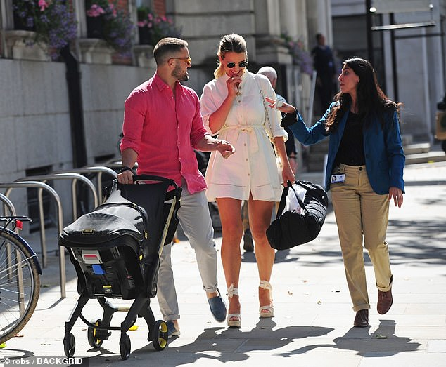 So easy!On picking up Vogue and Gigi from hospital the morning after the birth, he said: 'The whole thing was alarmingly unstressful. It felt like I was going out to get a coffee'