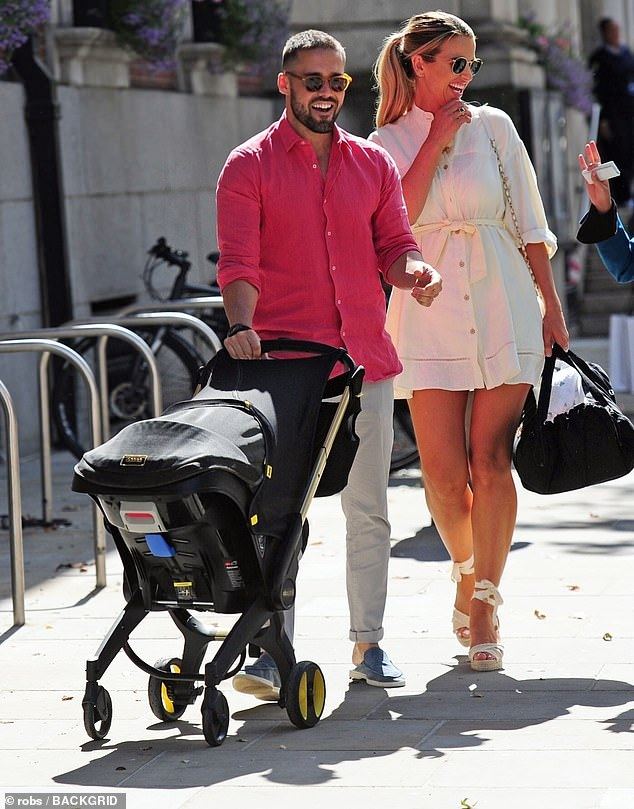 It's a big day! Vogue Williams, 34, and Spencer Matthews, 32, couldn't hide their delight as they arrived at Chelsea Town Hall to register the birth of their daughter Gigi on Wednesday