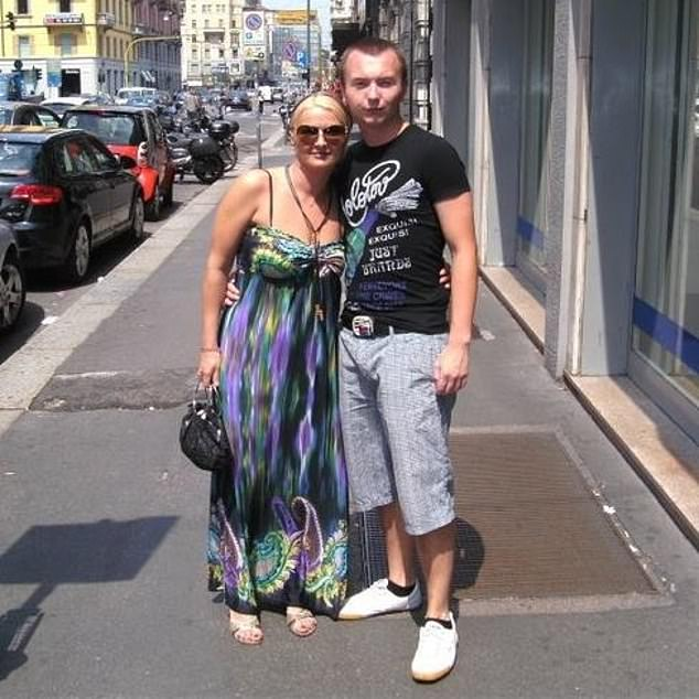 Maria Mester, pictured with her 29-year-old son Emil-Bogdan Savastru who are both charged