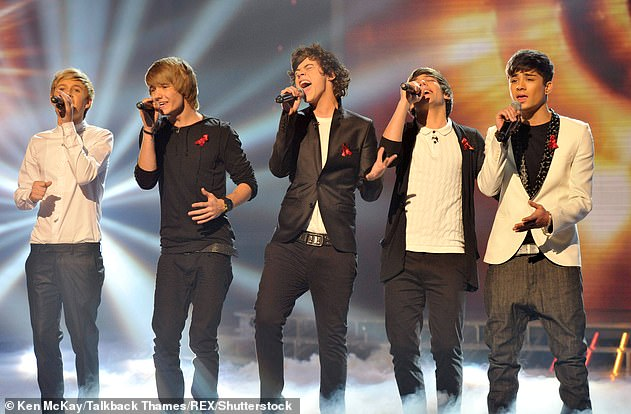 Throwback: He also shared one of the group's first photos with co-stars [L-R] Niall Horan, Harry Styles, Louis Tomlinson and Zayn Malik [pictured in 2010 on The X Factor]