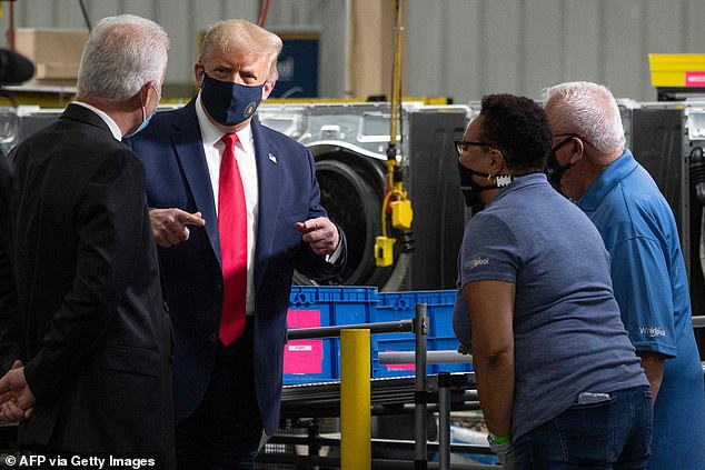 President Trump joked he wanted to ask for a few machines when he toured the Whirlpool factory but didn't know if it would be appropriate