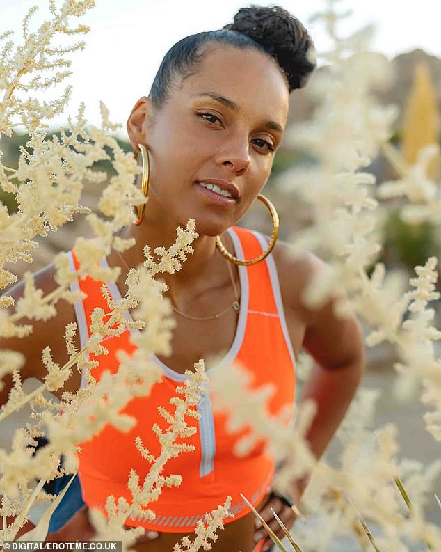 Baring it all: Alicia Keys has announced plans to launch a new beauty brand in partnership with Elf Cosmetics, revealing that the line will focus primarily on skincare