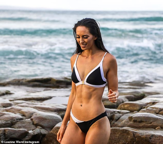 A dietitian has revealed what it really took her to get abs, and why maintaining them long term is nearly impossible (Leanne Ward pictured when she had abs)