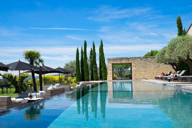 The stunning outdoor pool atDomaine Des Andéols, which offers 19 villas