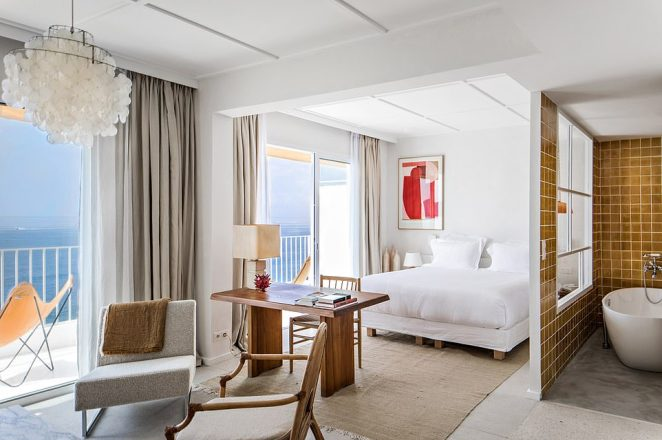 Chic condition: The rooms are full of vintage furniture and most come with a sea view