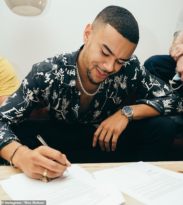 Hitting the charts!Wes Nelson, 29, has revealed he's signed his first record deal after failing to win The X Factor: Celebrity last year