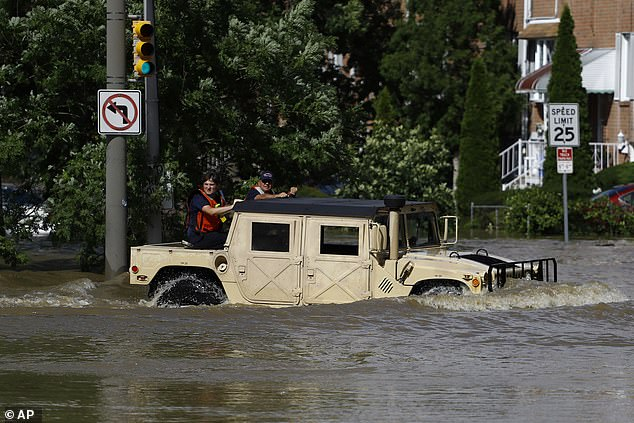 The Atlantic hurricane season is off to a running start, as Hurricane Isaias became the fifth named storm to make landfall in the US ¿ and scientists believe to have uncovered what is influencing these tropical storms. Pictured is a scene in Philadelphia following Isaias