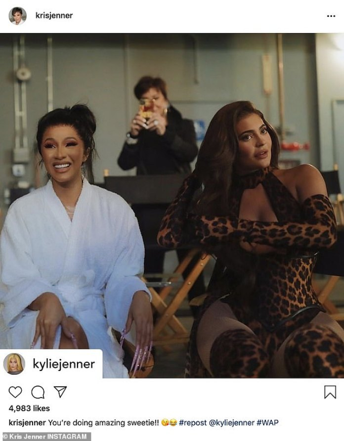Kris Jenner mocks her own meme as she's caught filming daughter ...