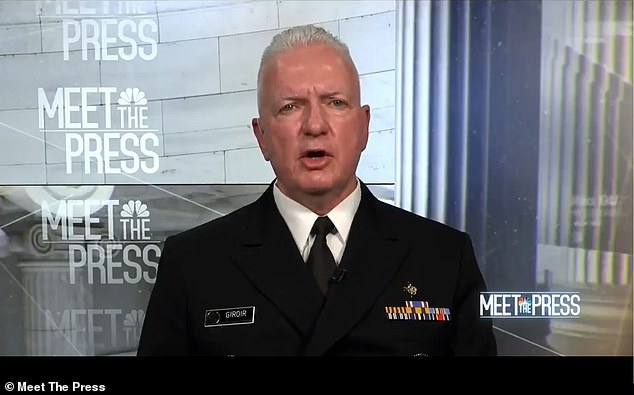 On Sunday, Admiral Brett Giroir said on Meet the Press that he 'can't recommend' taking hydroxychloroquine for coronavirus treatment or prevention