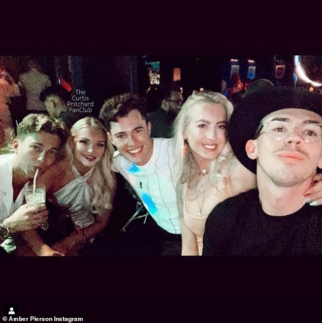 Denied: Amber (pictured center right) and Curtis (pictured center) called allegations of their alleged affair 'complete lies' despite their recent date at the park