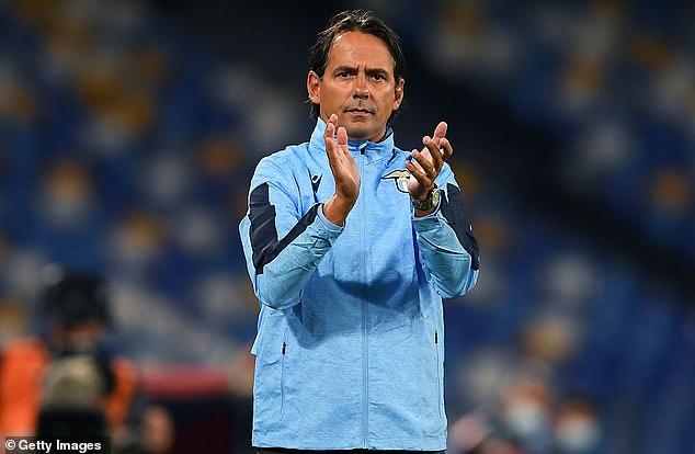 Simone Inzaghi led Lazio to Champions League qualification ahead of the 2020-2021 season