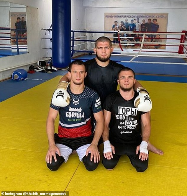 Sportsmail profiles the Nurmagomedov clan, featuring Khabib (top), Usman (left), Umar (right) and Abubakar (not pictured) as they look to build a family dynasty in mixed martial arts