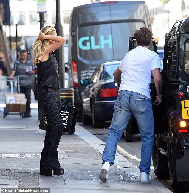Oh dear! As Nicola got into her boyfriend's car, she realized he had gotten a parking ticket